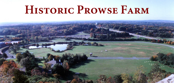 View of Historic Prowse Farm from Blue Hill